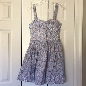 Jack Wills peasant floral bodice pleated dress